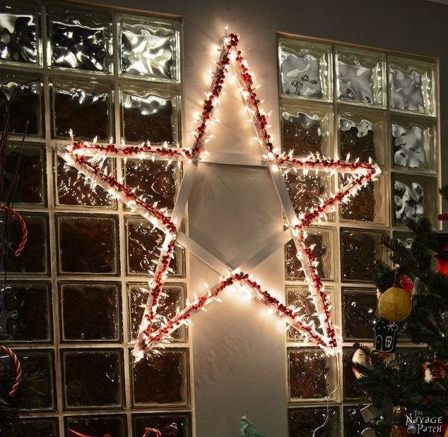 Outdoor Lighted Star Diy lighted christmas stars hometalk diy lighted christmas stars christmas decorations crafts flooring halloween decorations home workwithnaturefo