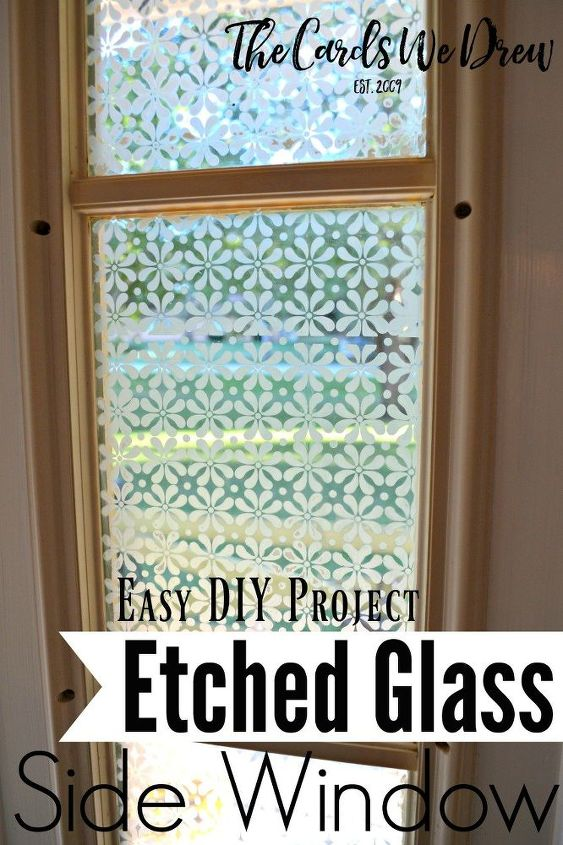 Glass Etched Front Door Side Window Crafts Doors How To Treatments