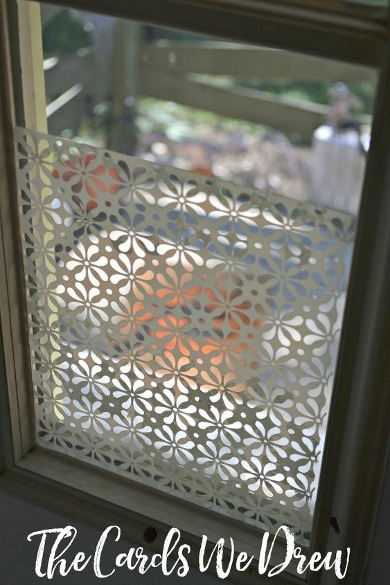 glass etched front door side window, crafts, doors, how to, window treatments, windows
