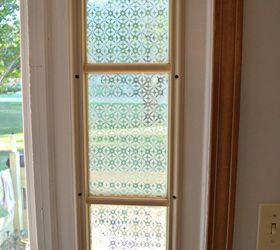 glass etched front door side window crafts doors how to window treatments & Glass Etched Front Door Side Window | Hometalk