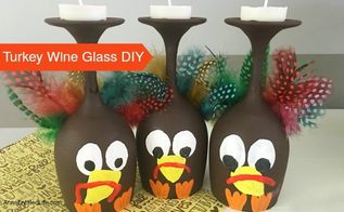 easy turkey wine glass decor , crafts, home decor, seasonal holiday decor, thanksgiving decorations