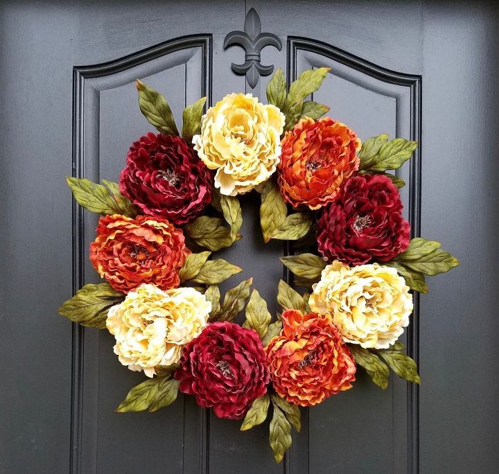 how to create a diy thanksgiving wreath for your front door, crafts, doors, how to, wreaths