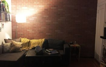 faux brick wall, concrete masonry, home decor, living room ideas, wall decor