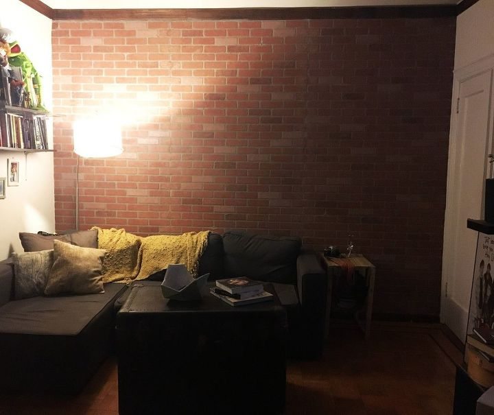 Faux Brick Wall Concrete Masonry Home Decor Living Room Ideas