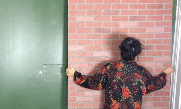 faux brick wall, concrete masonry, home decor, living room ideas, wall decor