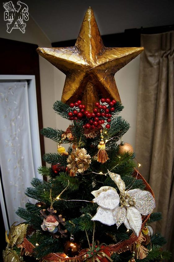 diy christmas tree topper christmas decorations crafts home maintenance repairs ponds water - How To Make A Christmas Tree Topper