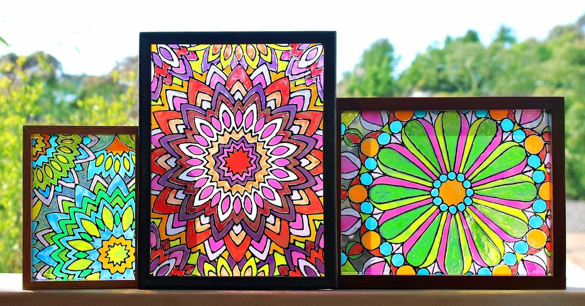 Faux Stained Glass With Mandala Design Hometalk