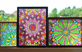 Faux Stained Glass (with Mandala Design)