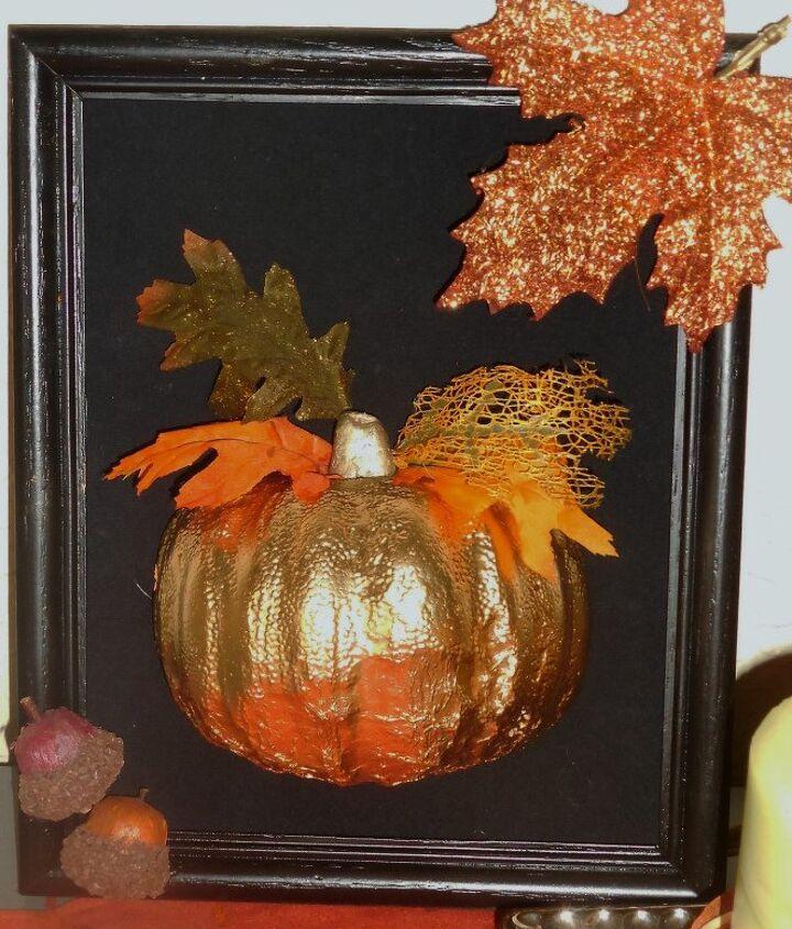 framed pumpkin, crafts, fireplaces mantels, outdoor living, painting, pallet
