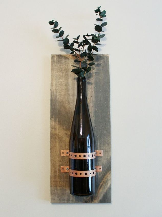 turning recycled bottles into rustic chic wall decor