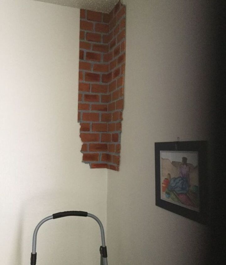 faux wall made real easy