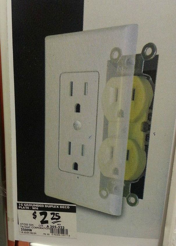 s hate your ugly outlet steal these 11 ideas, Or replace your old wall plate with a new one