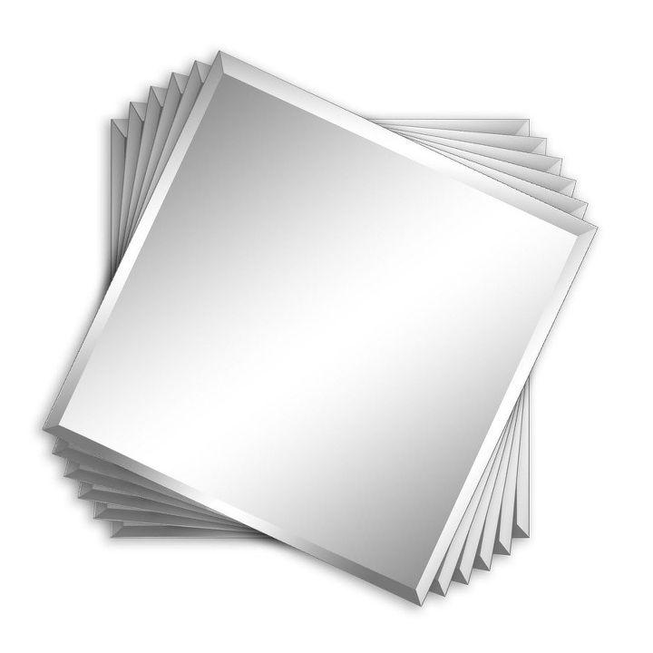 DIY Beveled Mirror Tile Overmantel Hometalk - 1x1 mirror tiles