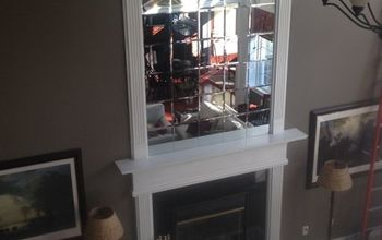 DIY Beveled Mirror Tile Overmantel