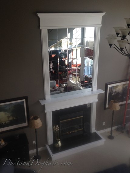 Diy Beveled Mirror Tile Overmantel Hometalk