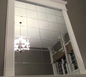 Diy Beveled Mirror Tile Overmantel, Fireplaces Mantels, Home Decor, Home  Improvement, Living