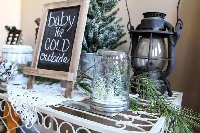 Diy Mason Jar Winter Tree Decor Home Jars