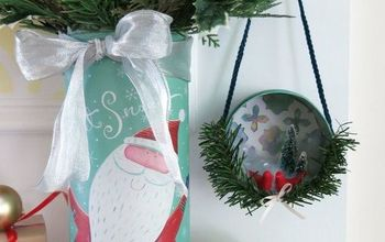Turn a Holiday Gift Box Into a Christmas Floral Arrangement
