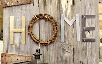 paint stick letters, crafts, gardening, home decor, outdoor living