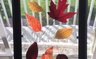 fall leave sun catcher, crafts, home decor, outdoor living, repurposing upcycling, seasonal holiday decor