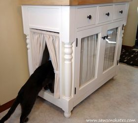 Superior Diy Kitty Litter Cabinet Hides Ugly Litter Box, Kitchen Cabinets, Kitchen  Design, Painted