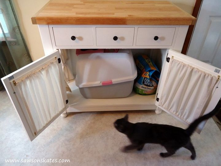 kitty furniture ugly diy cabinets cabinet hometalk cat box design painted hides kitchen litter