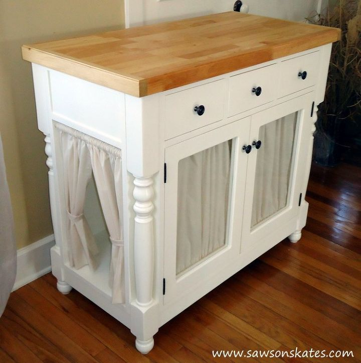Diy Kitty Litter Cabinet Hides Ugly Box Kitchen Cabinets Design Painted