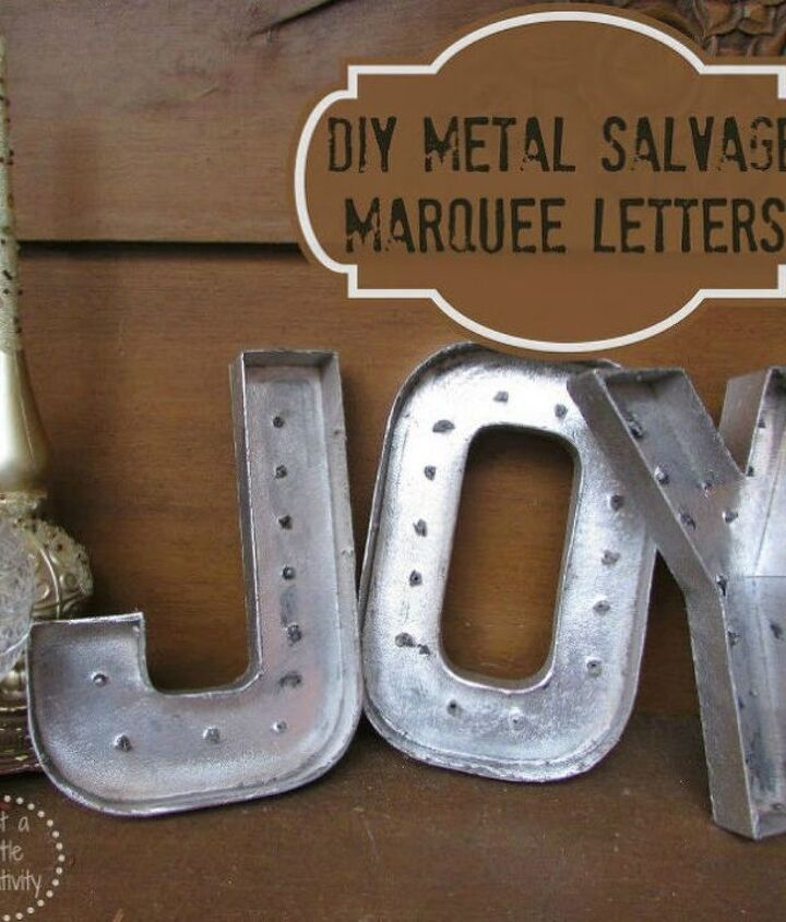 s cut up cardboard for these breathtaking christmas ideas, christmas decorations, Turn them into vintage metal marquee letters