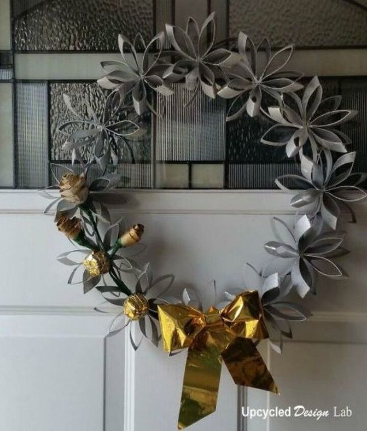 s cut up cardboard for these breathtaking christmas ideas, christmas decorations, Fold them into a beautiful wreath