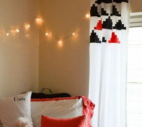 Decorate A Plain White Sheet For Curtains