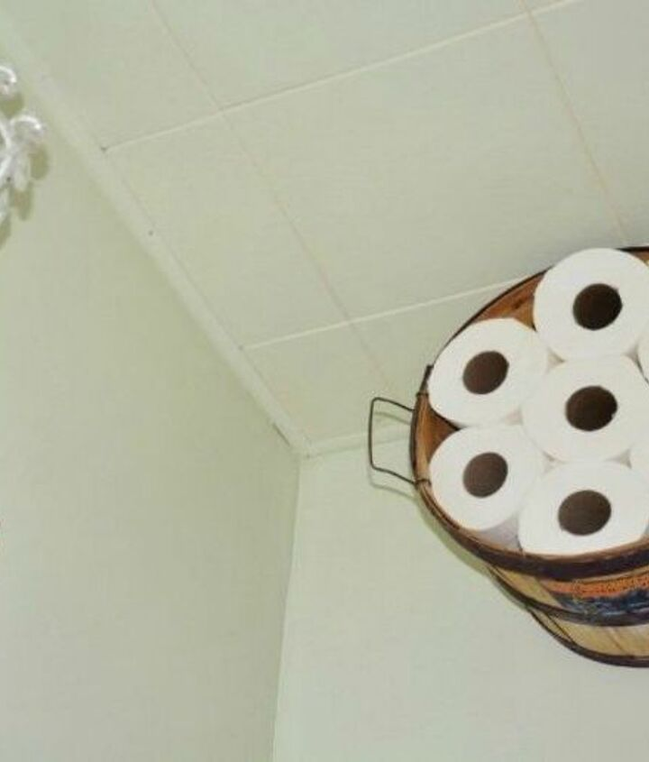 s grab an old basket for these clever ideas, crafts, Or turn it into a bathroom shelf
