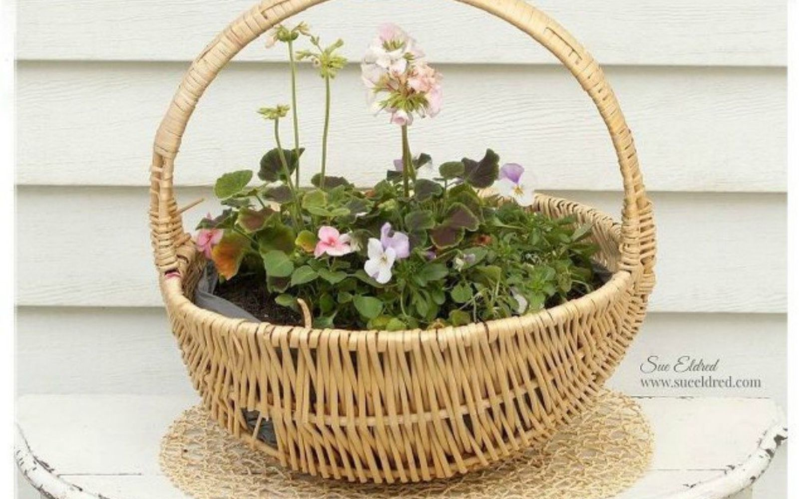 s grab an old basket for these clever ideas, crafts, Turn it into a pretty planter