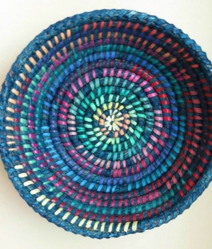 s grab an old basket for these clever ideas, crafts, Paint it for a splash of color