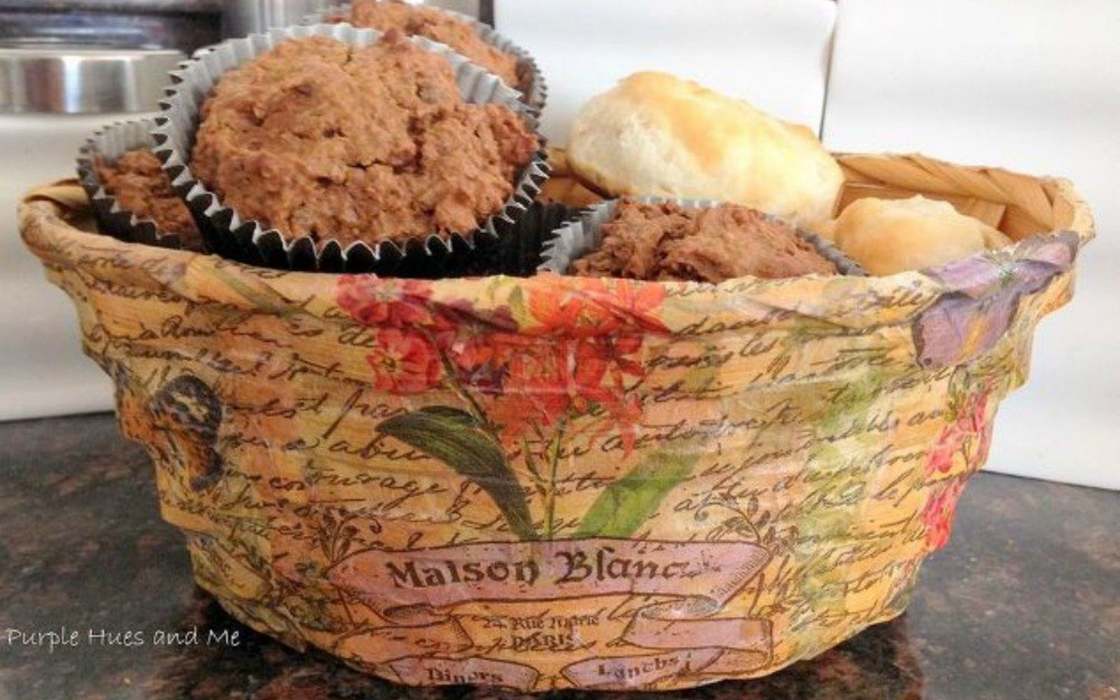 s grab an old basket for these clever ideas, crafts, Decoupage it into a new basket