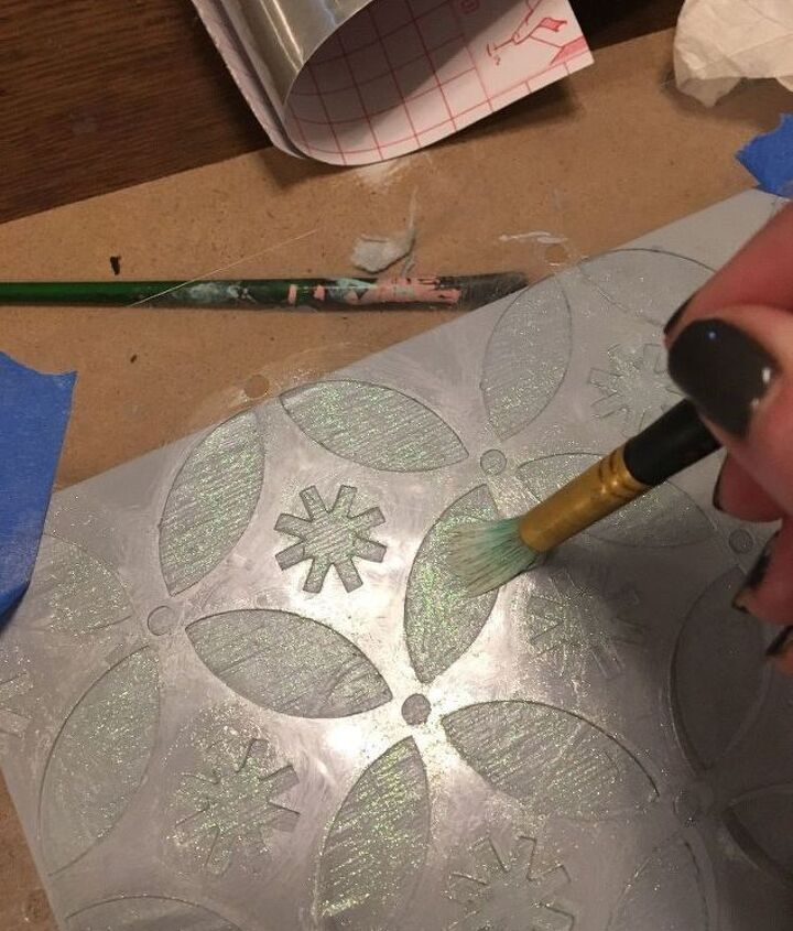 holiday fun with stencils, christmas decorations, crafts