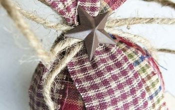 Homespun Fabric Christmas Ornament