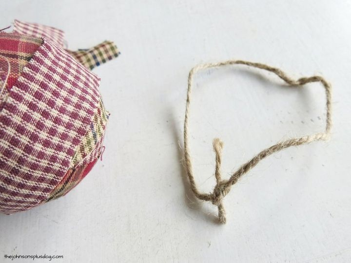 homespun fabric christmas ornament, christmas decorations, seasonal holiday decor, reupholster