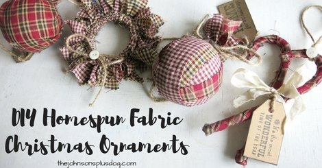 homespun fabric christmas ornament hometalk