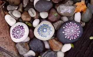 michigan rock mandalas, craft rooms, crafts, gardening, landscape, painting