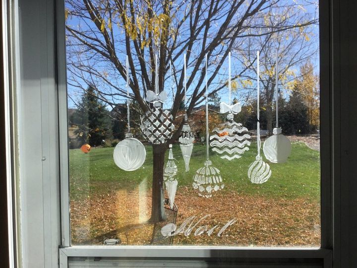 decorating windows using window wax , christmas decorations, cleaning tips, crafts, home decor, outdoor living, painting, seasonal holiday decor