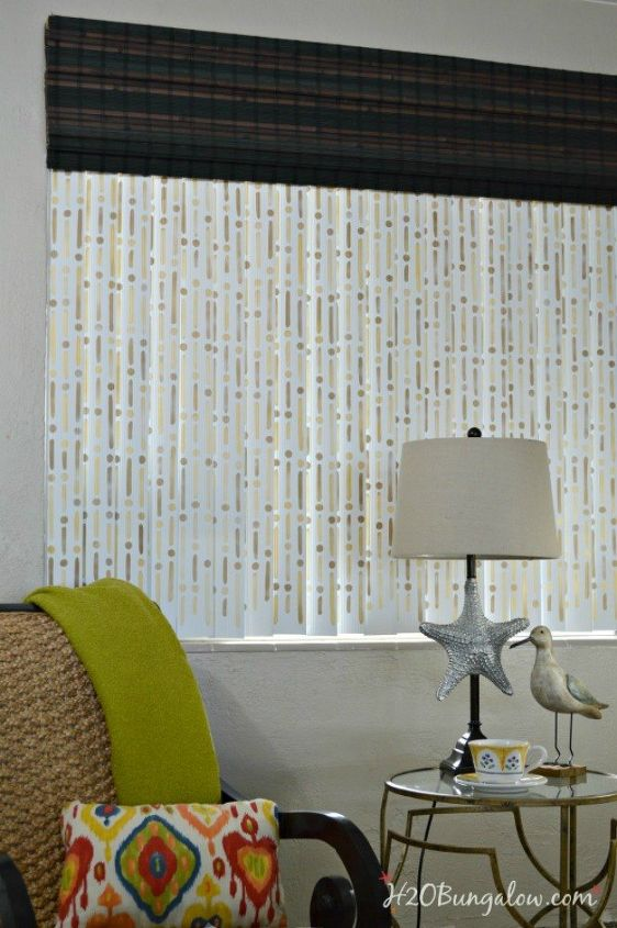 s 11genius ways to transform your ugly blinds, home decor, Revamp your boring vertical blinds with paint