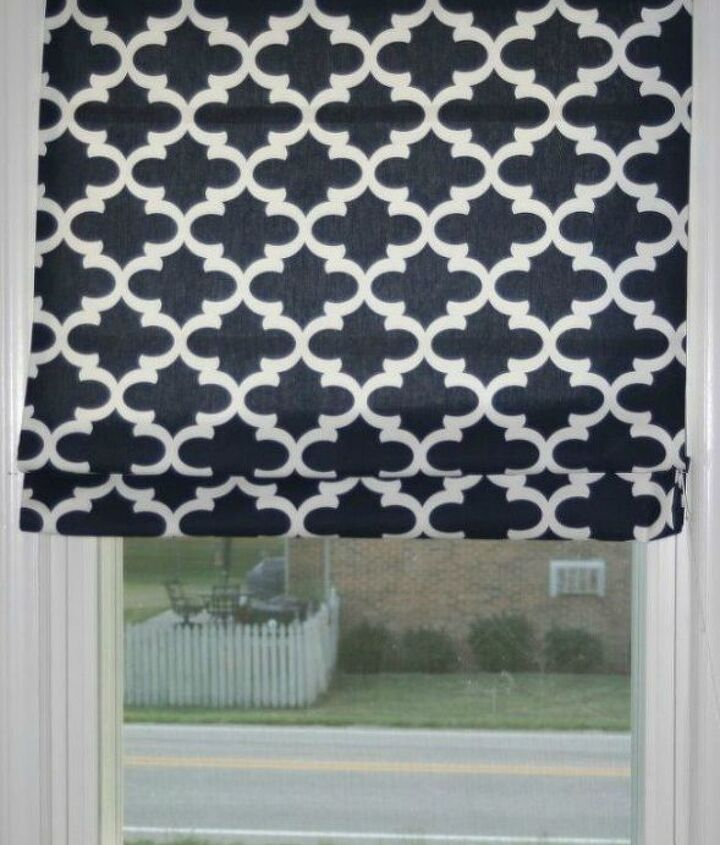 s 11genius ways to transform your ugly blinds, home decor, Turn it into an elegant Roman shade
