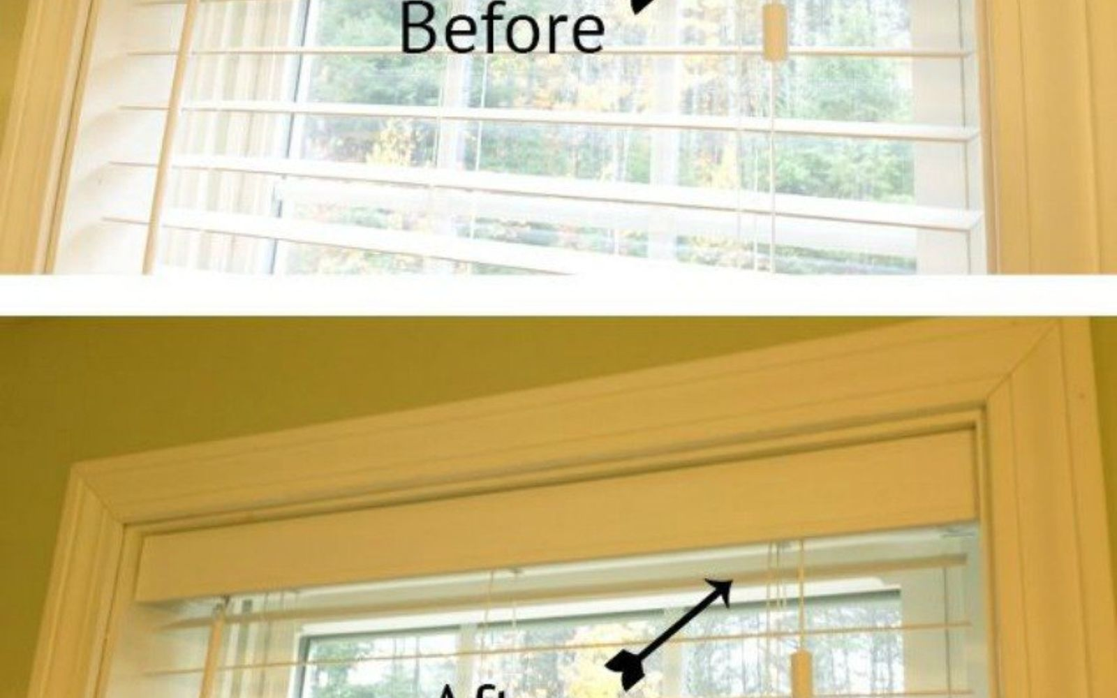 s 11genius ways to transform your ugly blinds, home decor, Hide pull cords with an easy to build valance