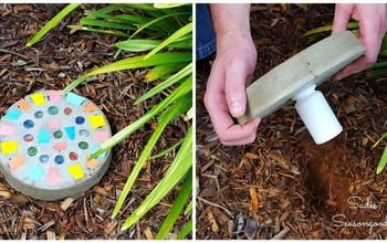 DIY Stepping Stone With Secret Key Hider