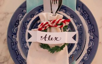 Easy Christmas Place Settings With Instruction Video!!