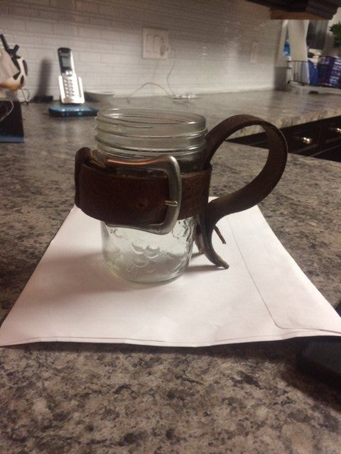 a different sort of mason jar mug , mason jars, repurposing upcycling