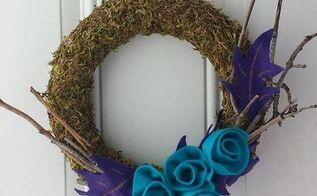 craft moss wreath diy, crafts, home decor, wreaths