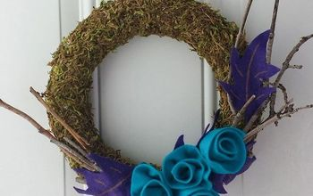craft moss wreath diy, crafts, home decor, wreaths
