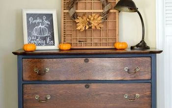 Old Fashioned Milk Paint to The Rescue for This Serpentine Dresser