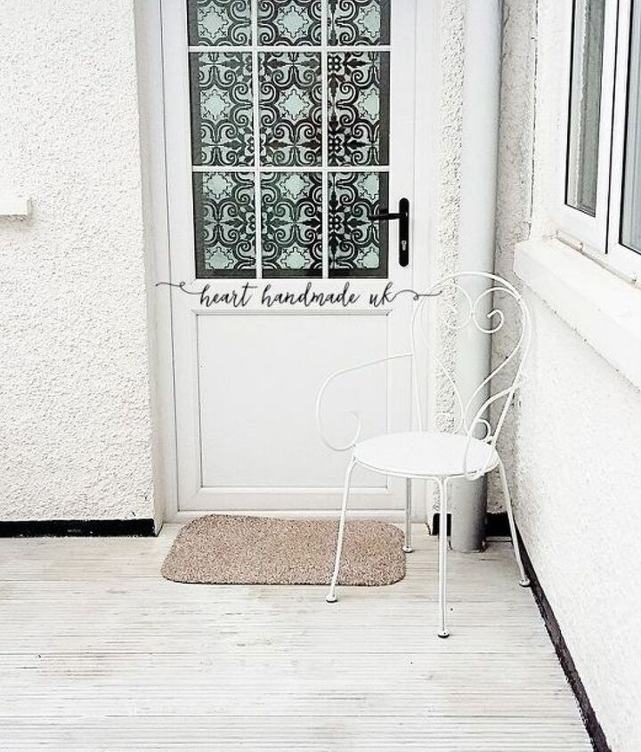 how to transform a glass door using a stencil , doors, how to